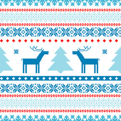 Christmas background fair isle traditional knitted motifs