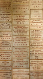 Votive headstones in French Church poster