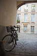 Retro bicycle in Parisian courtyard