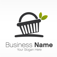 vecteur, panier e-commerce