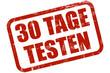 Grunge Stempel rot 30 TAGE TESTEN