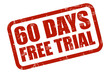 Grunge Stempel rot 60 DAYS FREE TRIAL