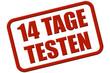 Stempel rot rel 14 TAGE TESTEN