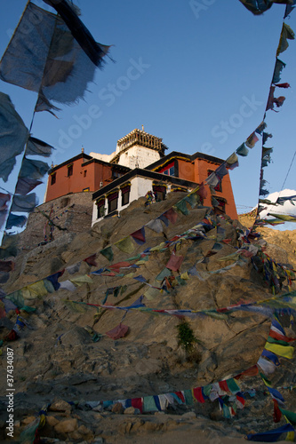 Monastery located  on top of the city Leh