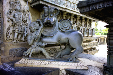 Temple sculpture,Belur ,India