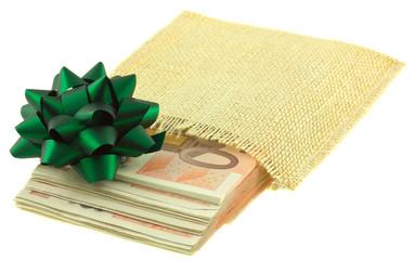 paquet cadeau billets