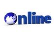 Online mit Weltkugel
