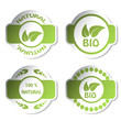 Vector stickers - bio, natural