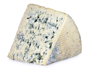 Cuña de queso azul.
