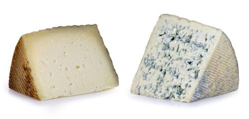 Dos tipos de queso.