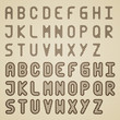 vector original striped font alphabet