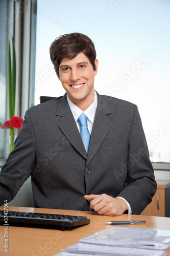 Male Manager Smiling
