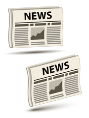 vector wavy newspaper icons