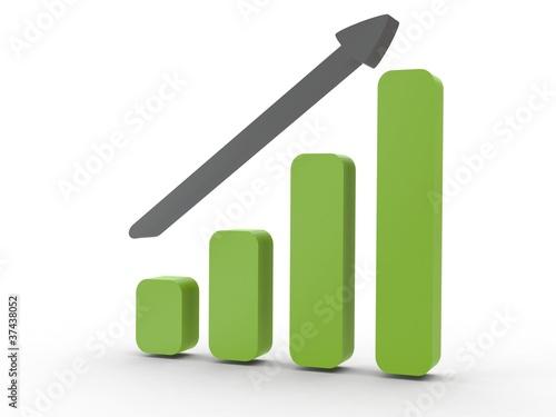 3d Icon Statistik steigend