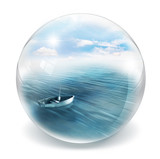 boat in bubble