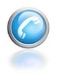Contact Kontakt Button glossy blue