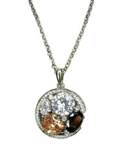 jewelry pendant with shiny crystals