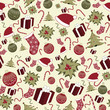 Seamless christmas pattern background with christmas tree
