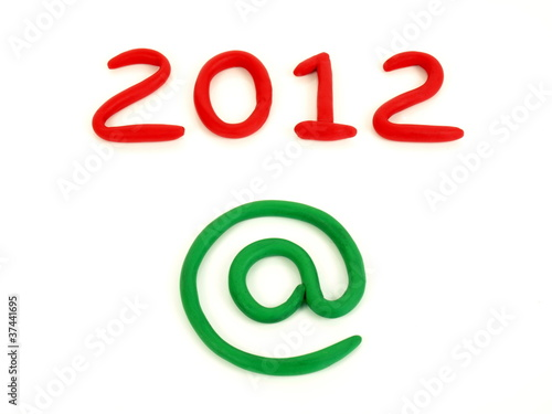 New Year 2012 on internet