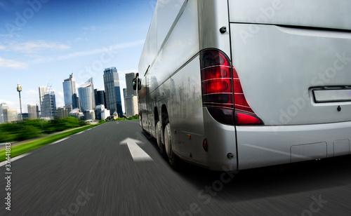 Leinwanddruck Bild Bus
