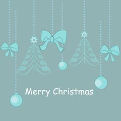 christmas decorations card. vector illustration