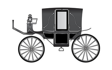 royal Horse Carriage, vector
