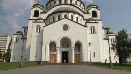 Temple of St Sava - wide