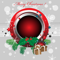 Rounded Christmas frame