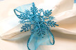 Blue Snowflake Napkin Holder
