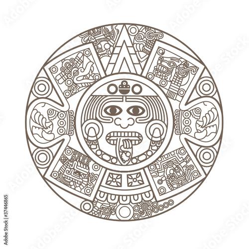 Stylized Aztec Calendar - 37446865