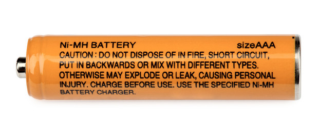 Ni-MH rechargeable Battery on a white background