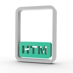 3d Icon Dokument HTM
