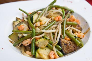 plate of asian cuisine