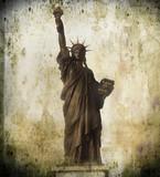 cartolina vintage statua della libertà - 37451676
