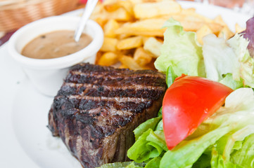 juicy steak