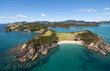Aerial shot of Urapukapuka Island, Bay of Islands, New Zealand