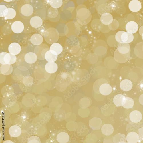 fond doré et étoilé - ambiance de fête de fin d'année