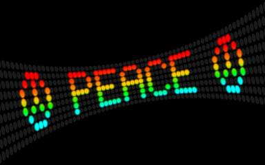 led laufschrift peace I
