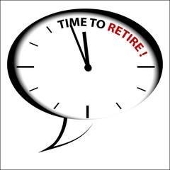 "Bubble Clock ""Time to RETIRE!"""