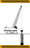 Crane  for filling caisson, construction machinery equipment iso