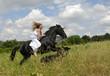mariée a cheval