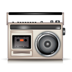 retro cassette music player