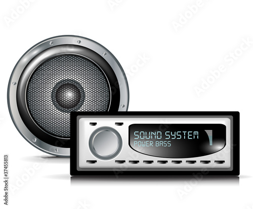 speaker and car audio player