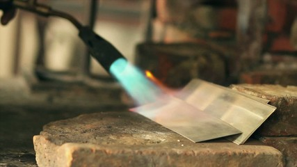 annealing silver plates for making it more malleable