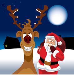 Reindeer has farted-no outline