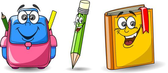 Сумка Мультфильм школы, книги и карандаш