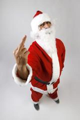 Babbo Natale con dito medio