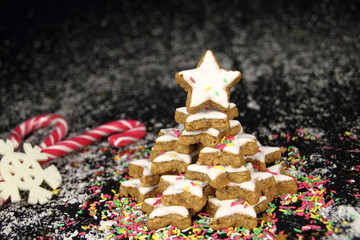 Christmas star cookies tree