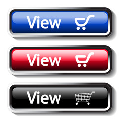 Vector set of shop buttons - view cart