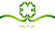 "Green Cloverleaf ""Happy New Year"""